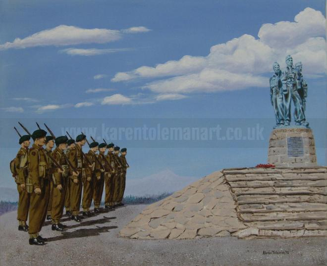 Photo of artwork:  The Commando Memorial at Spean Bridge