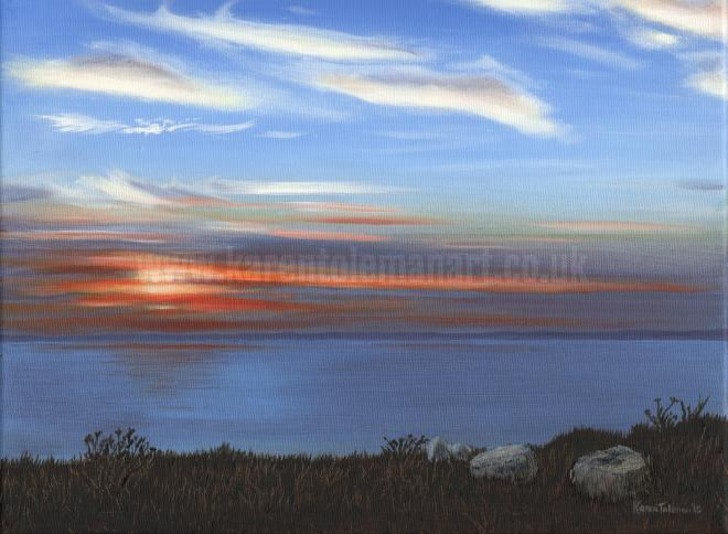 Photo of artwork: SOLD - Sunset, Lyme Bay