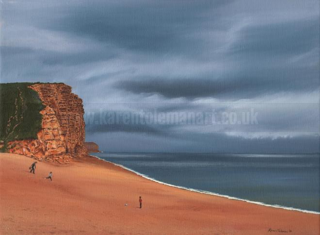 Photo of artwork: Gathering Storm, East Cliff