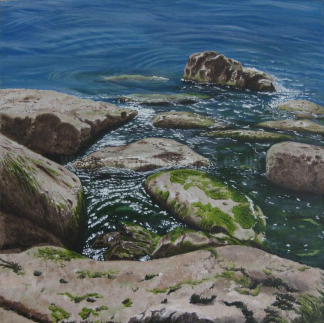 Photo of artwork: Time Out, Portland Bill