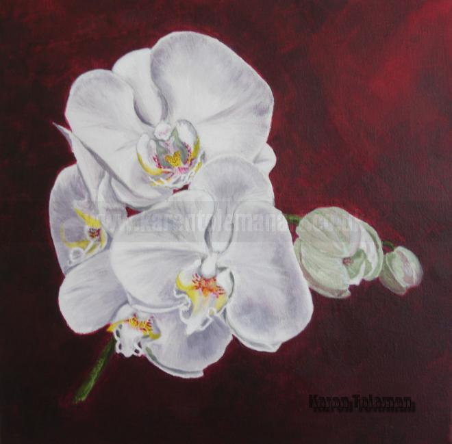 Photo of artwork: Orchids